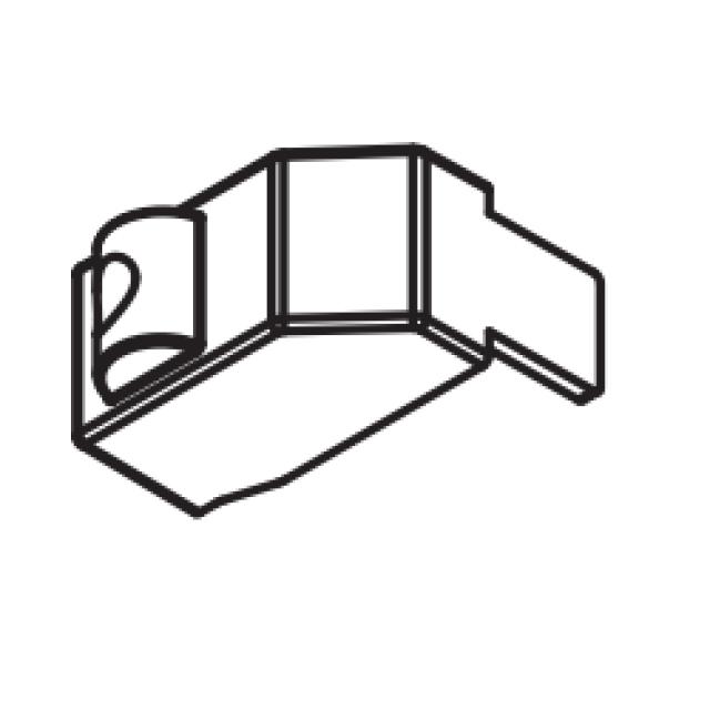 700008900000 Menabo alkatrész TEMA tetőcsomagtartó támaszték rögzítő betét